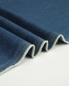 Organic Cotton Denim Fabric - Mid Blue