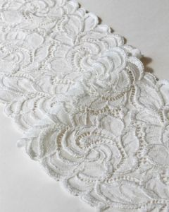 Stretch Lace Trim - 160mm - Cream