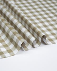 Yarn Dyed Cotton Fabric - 1cm Gingham Barley