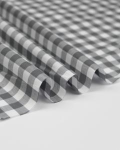 Yarn Dyed Cotton Fabric - 1cm Gingham Grey
