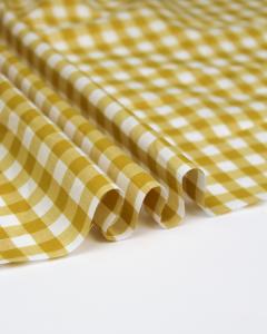 Yarn Dyed Cotton Fabric - 1cm Gingham Honey