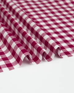 Yarn Dyed Cotton Fabric - 1cm Gingham Jam
