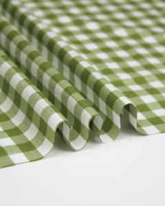 Yarn Dyed Cotton Fabric - 1cm Gingham Matcha