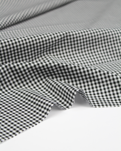 Yarn Dyed Cotton Fabric - 3mm Gingham Black