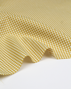 Yarn Dyed Cotton Fabric - 3mm Gingham Honey