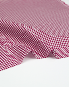 Yarn Dyed Cotton Fabric - 3mm Gingham Jam
