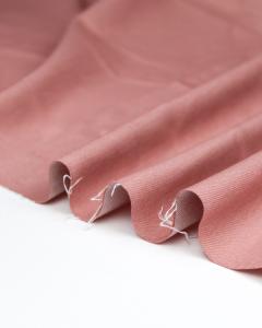 Yarn Dyed Stretch Denim Fabric - Rose
